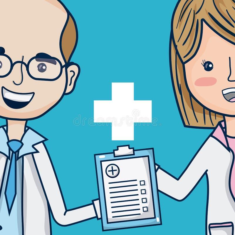 Artsen medisch team stock illustratie