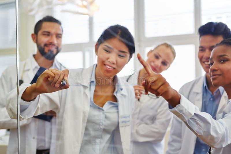 Artsen in opleiding in workshop stock afbeeldingen