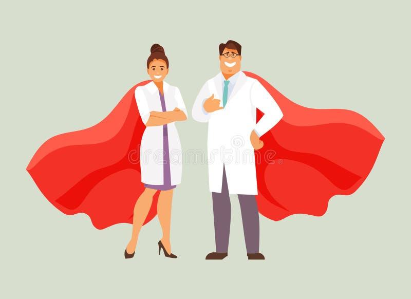 Artsen superheroes vector stock illustratie