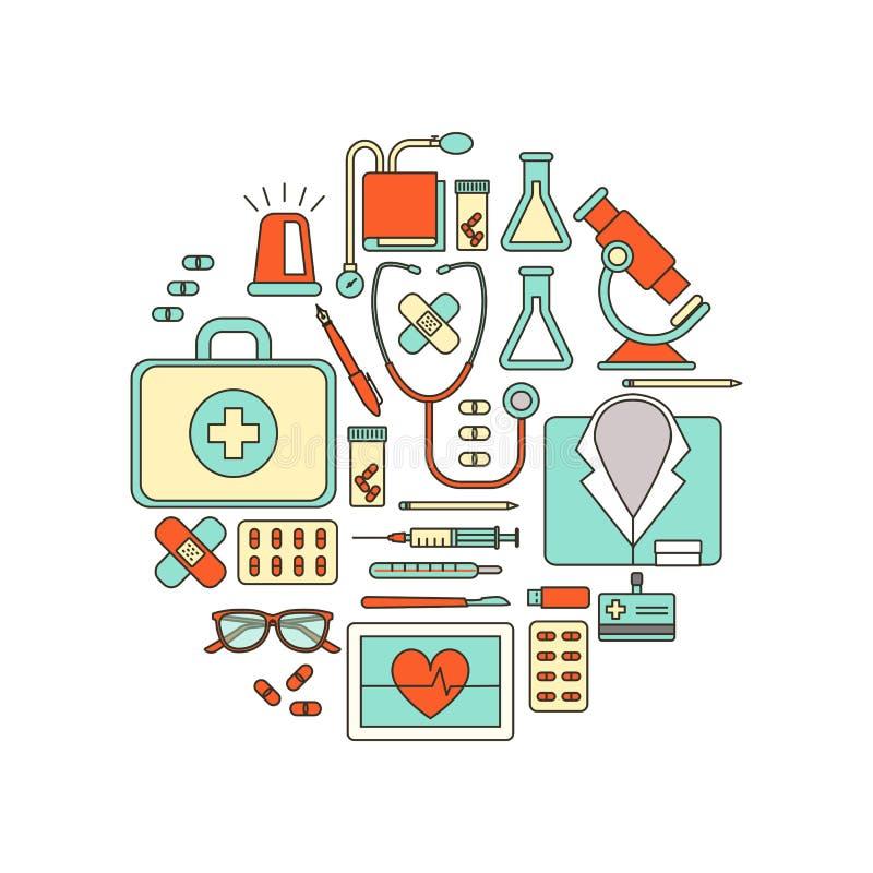 Artsenmedische apparatuur vector illustratie