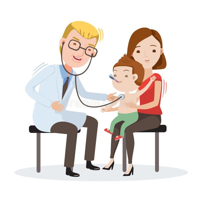 Artsenonderzoek royalty-vrije illustratie
