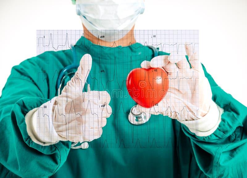 Artsenspecialisten in hartchirurgie royalty-vrije stock foto's
