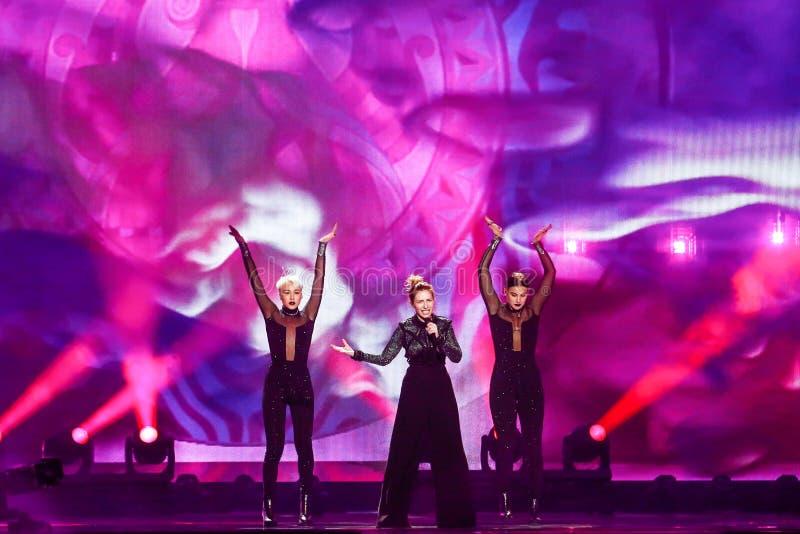 Artsvik from Armenia Eurovision 2017 stock images