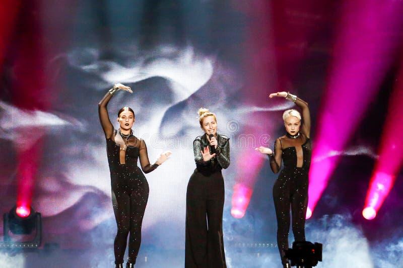 Artsvik from Armenia Eurovision 2017 stock photos