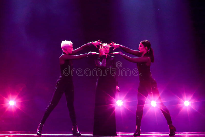 Artsvik from Armenia Eurovision 2017 royalty free stock photos