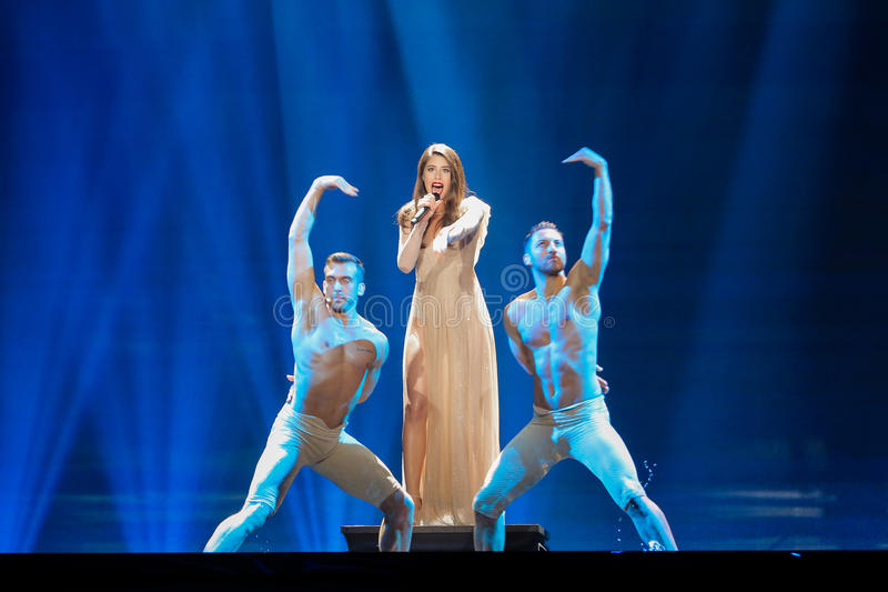 Artsvik from Armenia at the Eurovision Song Contest stock photos
