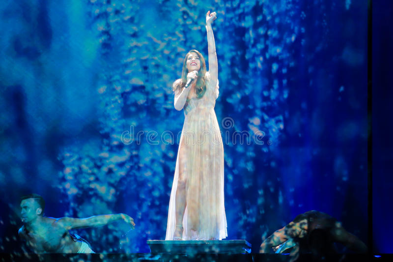 Artsvik from Armenia at the Eurovision Song Contest stock photography