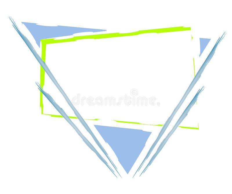 artsy сеть треугольника страницы логоса иллюстрация вектора
