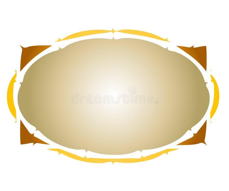 Artsy colora il marchio ovale di Web   illustrazione di stock