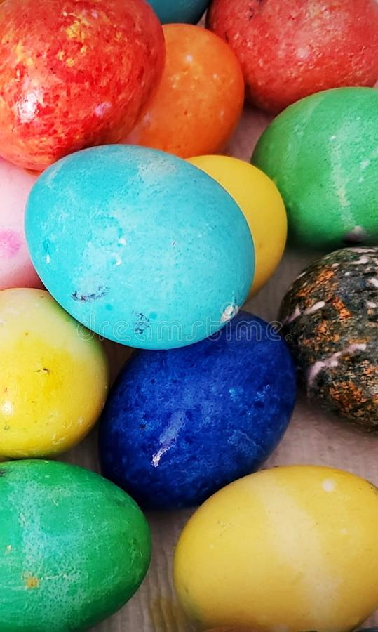 Artsy and Colorful Easter Eggs. Artsy easter eggs col colo color colorful stock photo