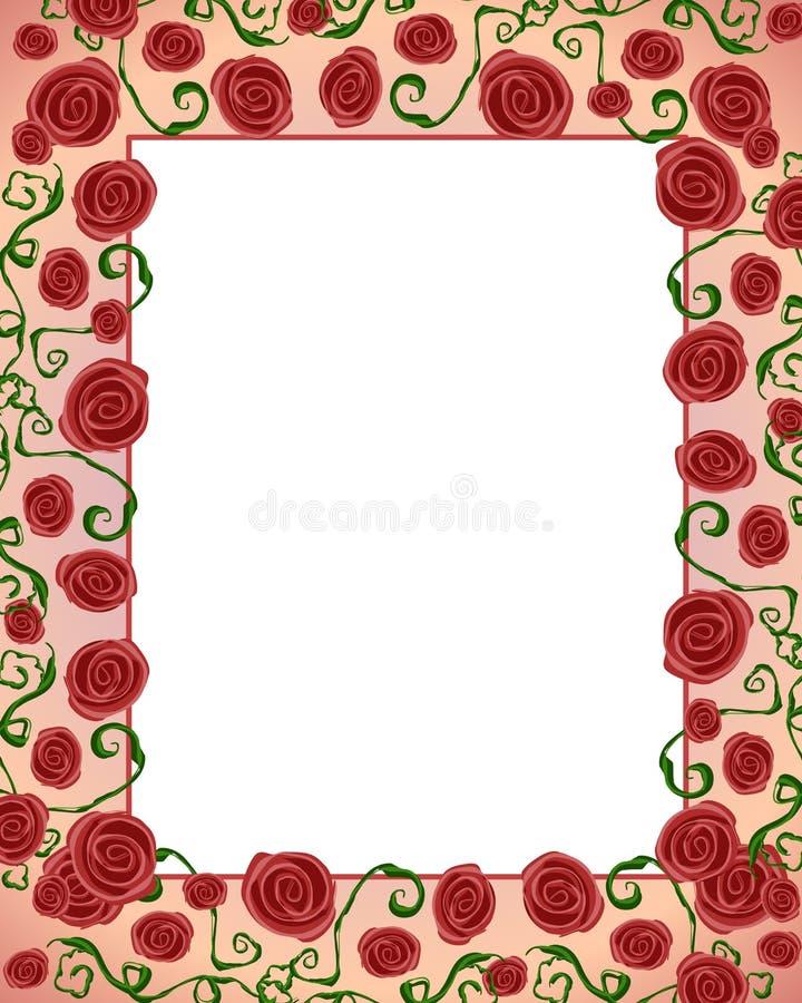 Free Artsy Folksy Rose Border Frame Royalty Free Stock Images - 4433709