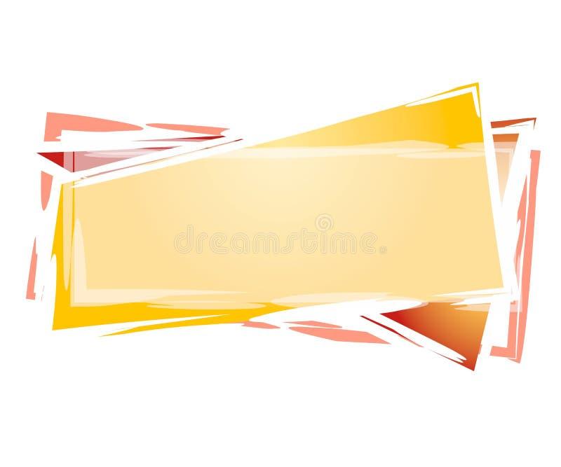 artsy logorektangelrengöringsduk royaltyfri illustrationer
