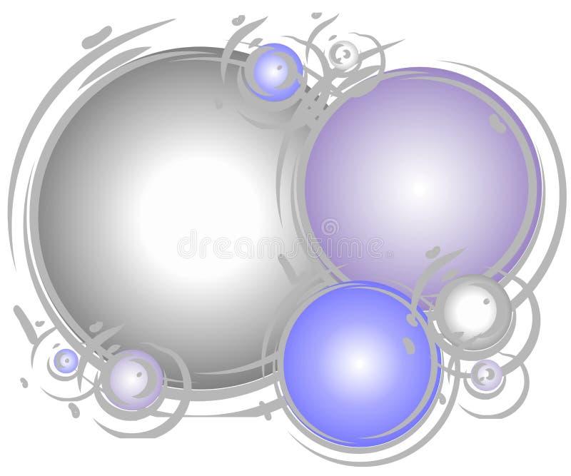 artsy modellsilverspheres stock illustrationer