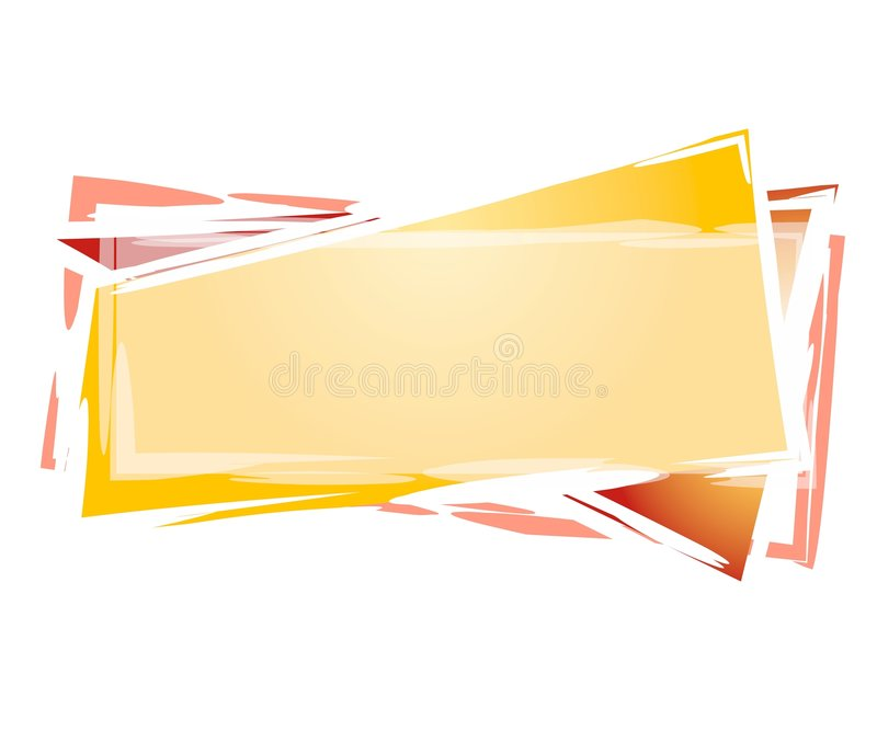 Artsy Rectangle Web Logo royalty free illustration