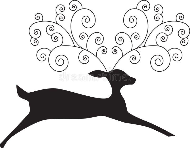 Artsy Reindeer. Image of a reindeer with artsy antlers royalty free illustration