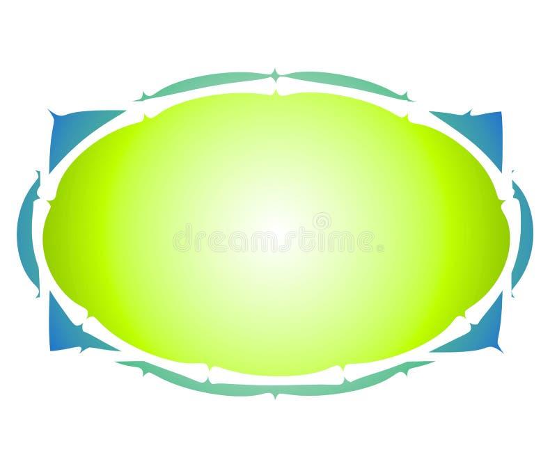 artsy rengöringsduk för färglogooval stock illustrationer