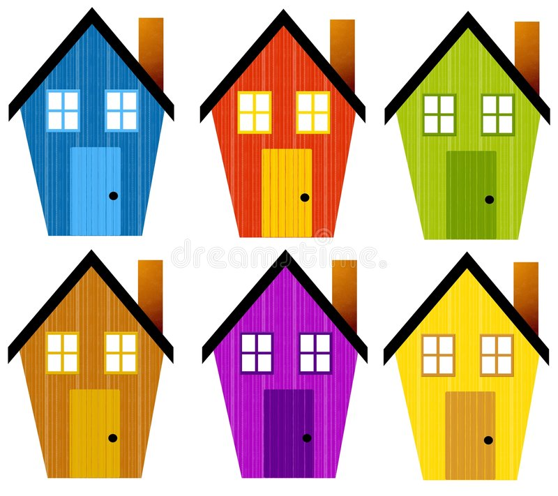 artsy rustic clip art houses stock illustration illustration of rh dreamstime com clipart of homes clipart of houses black and white