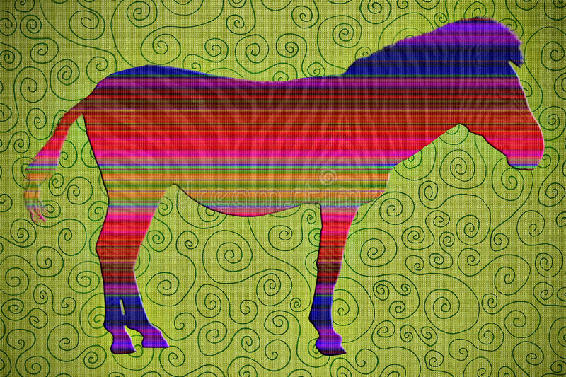Artsy Zebra vector illustration
