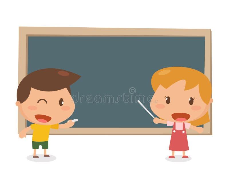 Żartuje aktywność blackboard ilustracja wektor