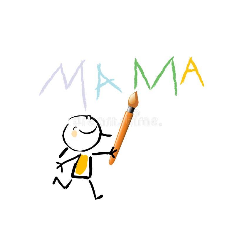 Żartuje mama ilustracji