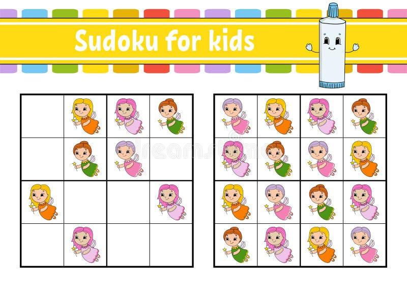 ?artuje sudoku Edukacji rozwija worksheet Aktywno?ci strona z obrazkami ?amig??wki gra dla dzieci Logicznego g??wkowania szkoleni ilustracji