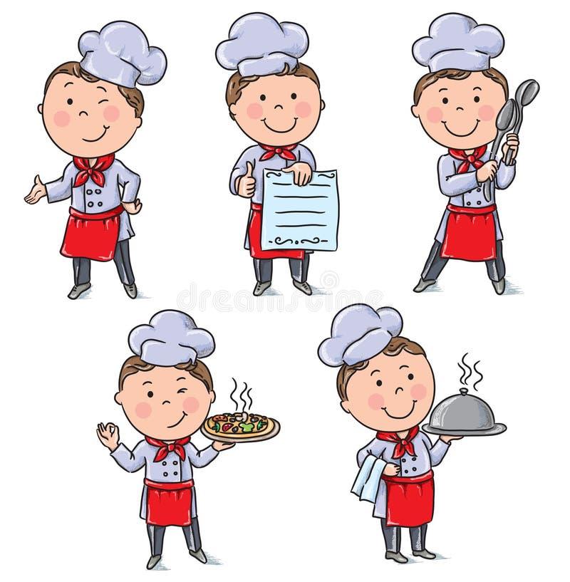 Żartuje szefów kuchni royalty ilustracja