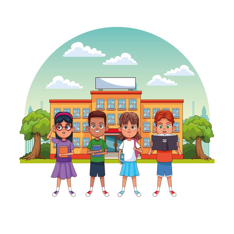 ?artuje uczni w szkole ilustracja wektor