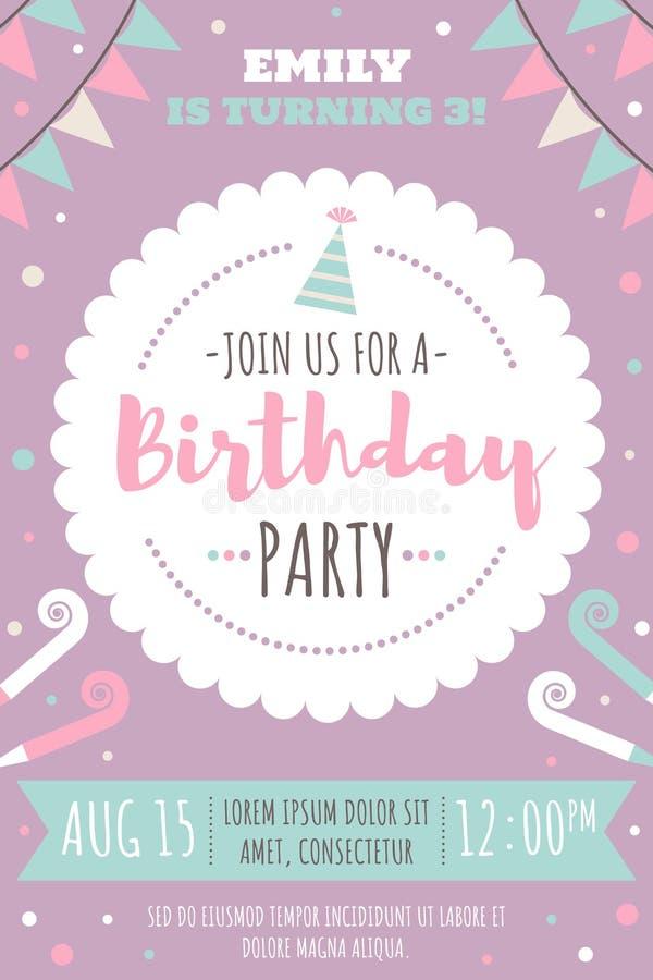 Żartuje urodzinowego zaproszenie royalty ilustracja