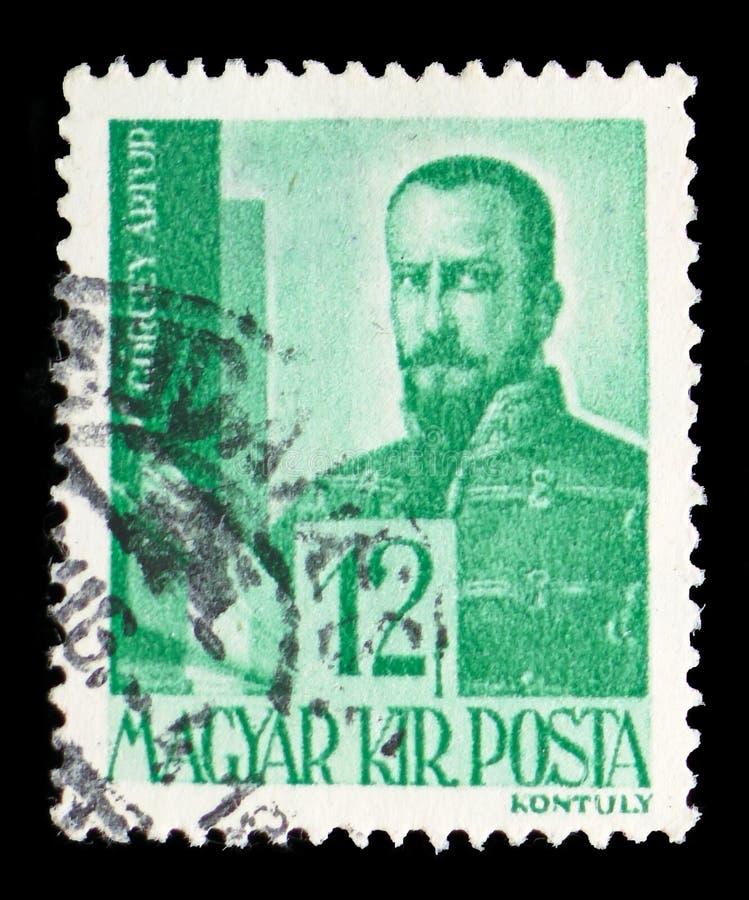 Artur Gorgey 1818-1916 Honved algemeen, Karakters en Overblijfselen van Hongaarse Geschiedenis serie, circa 1943 stock fotografie