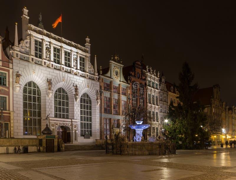 Artus Court em Gdansk fotos de stock