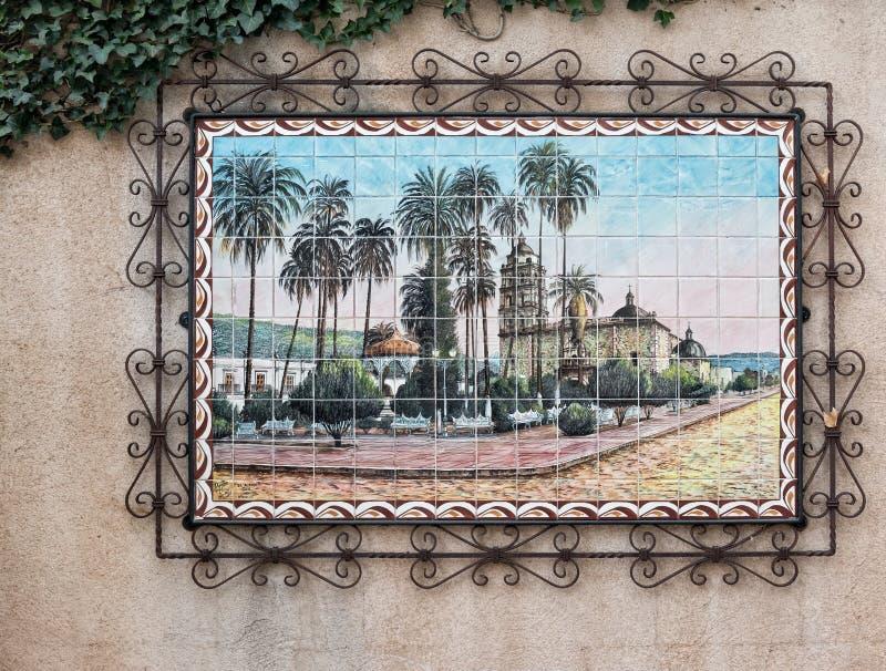 Southwestern artwork in Sedona. Artwork details, Tlaquepaque in Sedona, Arizona stock image