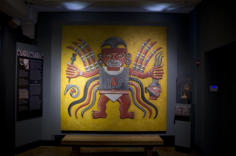 Artwork of Native American Peabody Museum of Archaeology and Ethnology. Peabody Museum of Archaeology and Ethnology in Harvard University has a collection of stock photos