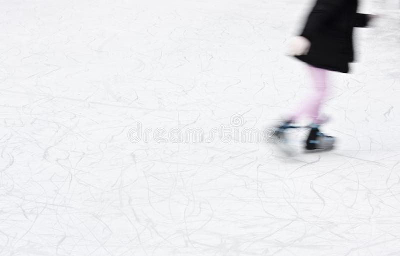 Arty blurry ice skating detail royalty free stock images