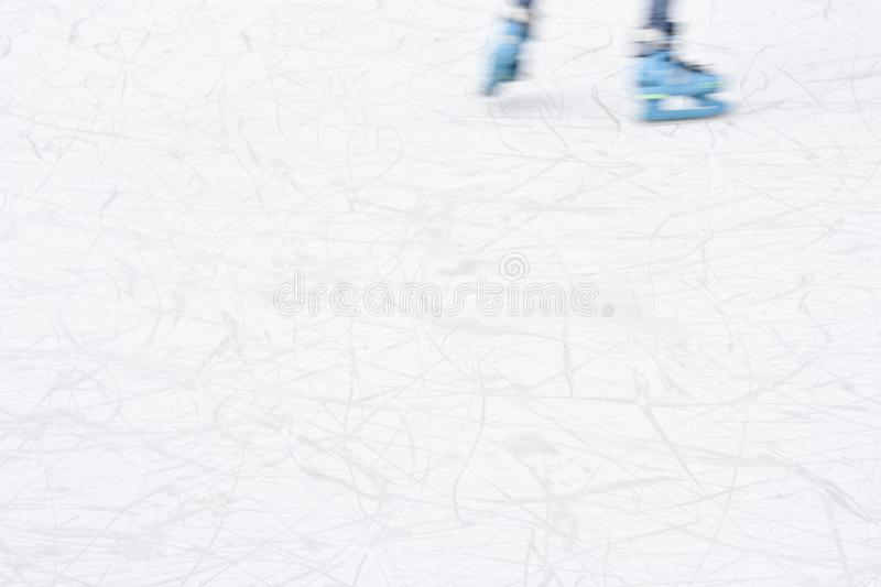 Arty blurry ice skating detail royalty free stock image