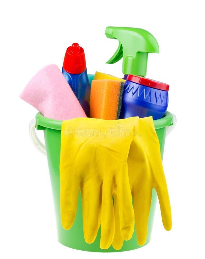 artykułów wiadra cleaning zdjęcia stock