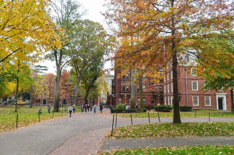 Artykuł wstępny: Boston Massachusetts, usa,/, 6th 2017 Listopad Uniwersytet Harwarda, w Cambridge, Massachusetts obraz stock