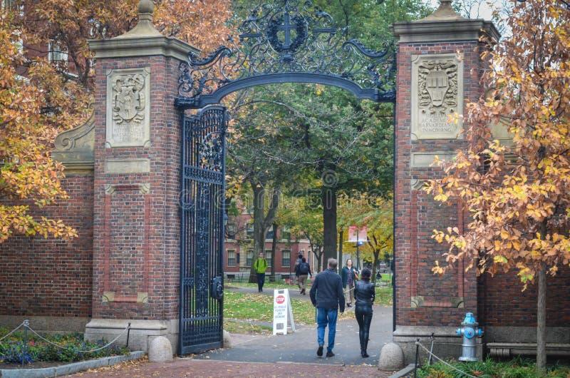 Artykuł wstępny: Boston Massachusetts, usa,/, 6th 2017 Listopad Uniwersytet Harwarda, w Cambridge, Massachusetts obraz royalty free