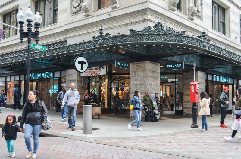 Artykuł wstępny: Boston Massachusetts, usa,/, 5th 2017 Listopad W centrum Boston Chinatown zdjęcia royalty free