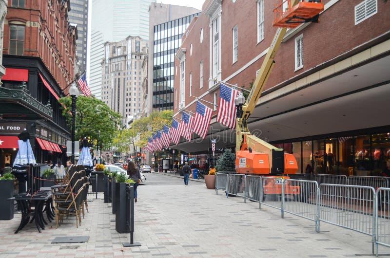 Artykuł wstępny: Boston Massachusetts, usa,/, 5th 2017 Listopad W centrum Boston Chinatown zdjęcie royalty free