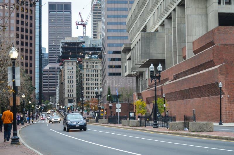 Artykuł wstępny: Boston Massachusetts, usa,/, 5th 2017 Listopad W centrum Boston Chinatown zdjęcie stock