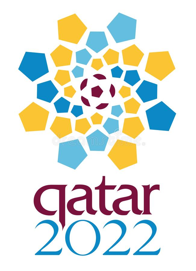 Artykuł wstępny - Katar 2022 puchar świata logo ilustracji