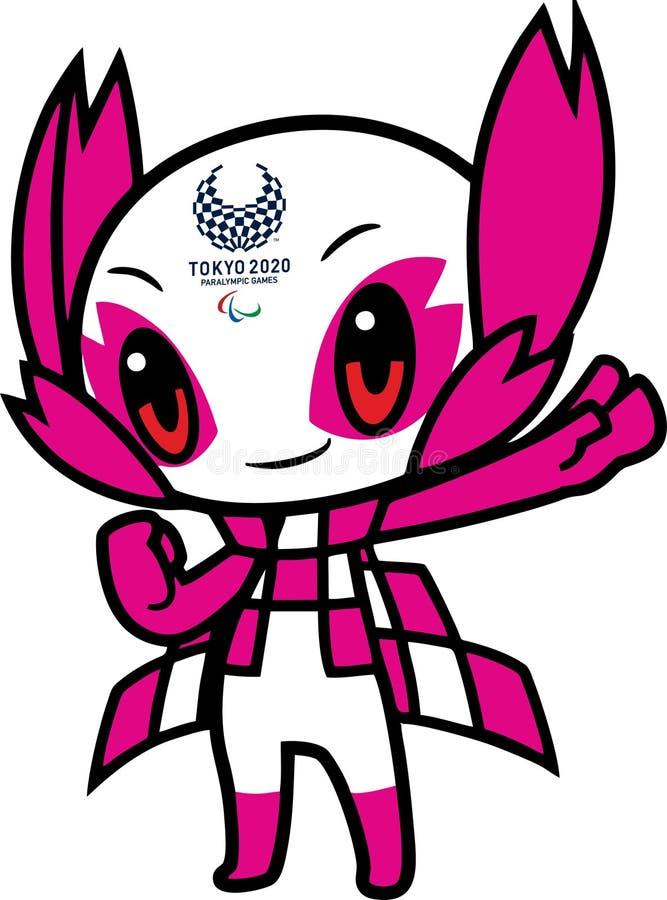 Artykuł wstępny - Someity Tokio Paralympic 2020 maskotka zdjęcie royalty free