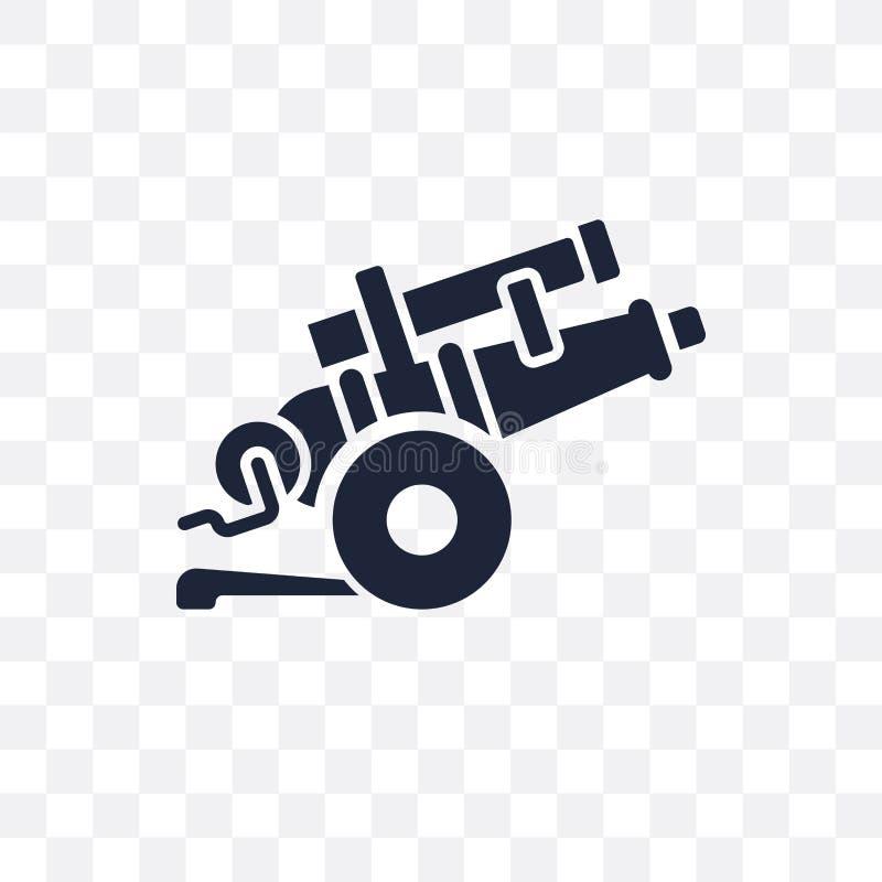 artyleryjska przejrzysta ikona artyleryjski symbolu projekt od wojska co ilustracja wektor