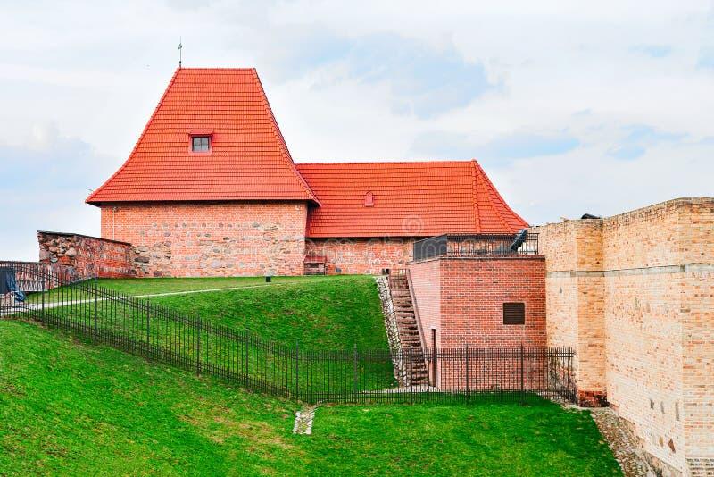 Artyleryjski bastionu wierza w Starym centrum miasta Vilnius Lithuania obrazy royalty free