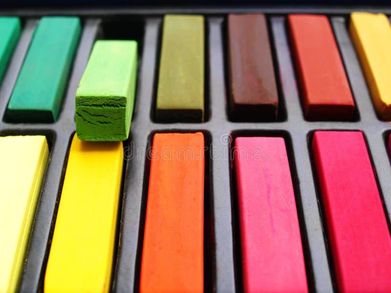 artystów pastele kredowi kolorowi zdjęcie royalty free