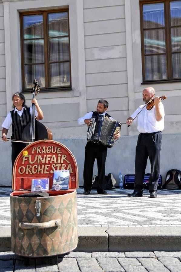 artystów Prague ulica fotografia stock