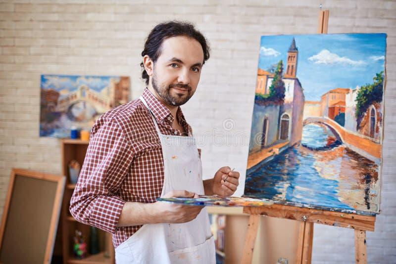 Download Artysta i jego arcydzieło zdjęcie stock. Obraz złożonej z kanwa - 53778640