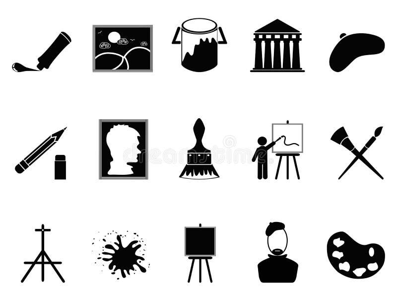 Artysta ikony ustawiać ilustracji