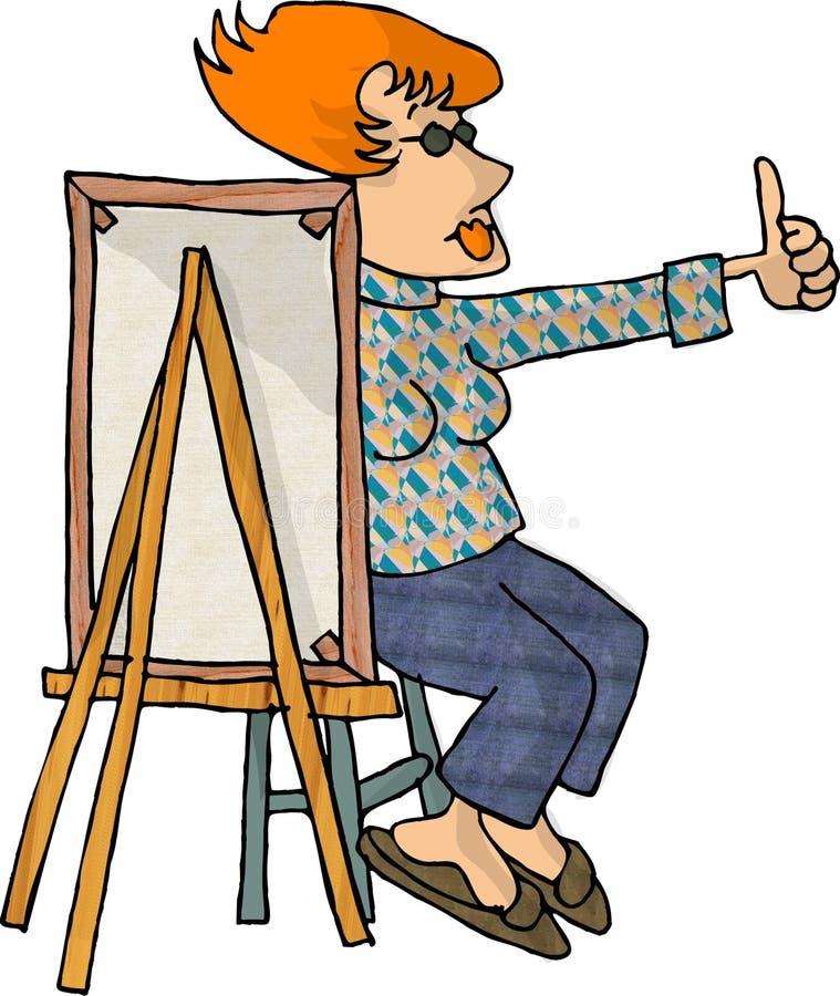 artysta kobieta royalty ilustracja