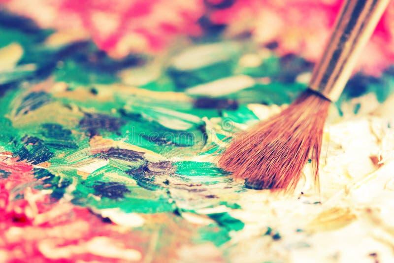 Artysta nafciane farby stubarwne obrazy stock